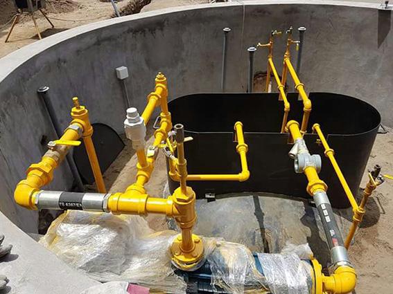 Instalación hidráulica para Glp